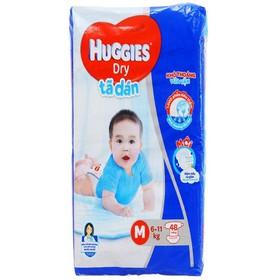 Tã dán Huggies Dry size M 48 miếng (cho bé 6 - 11kg) - Tã dán Huggies Dry size