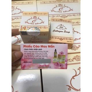 ( 10 bộ) combo 10 bộ kem trị nám, dưỡng trắng da collagen plus vit e 701 - 10bvite 1