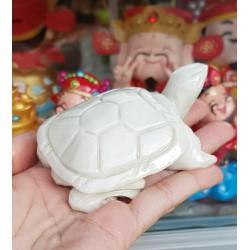Cụ Rùa đá thiên nhiên 8cm màu ngọc