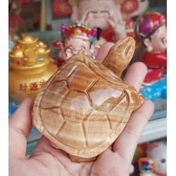 Cụ Rùa đá thiên nhiên 8cm màu nâu