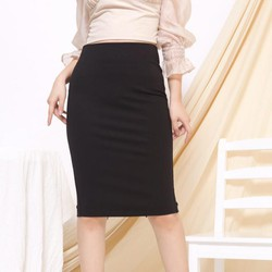 Chân váy bút chì thu đông màu đen CJ265DE