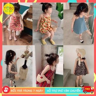 Váy 2 dây họa tiết xinh xắn TBKV19 - váy 2 dây cho bé gái 1- 6 tuổi