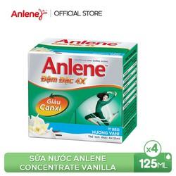 Sữa nước Anlene Concentrate Vanilla 4x125ml