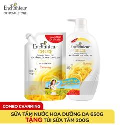 Sữa tắm nước hoa dưỡng da Enchanteur 650gr + Túi Sữa tắm 200gr (đủ mùi)
