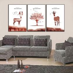 Tranh nội thất bộ ba nghệ thuật
