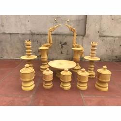 bộ đèn đài nến gỗ mít
