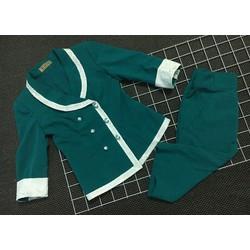[Thanh lý] Bộ Đồ vest xanh viền ren trắng siêu xinh