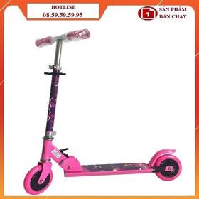 (Tặng bảo hộ) Xe scooter trẻ em - Xe scooter hồng họa tiết