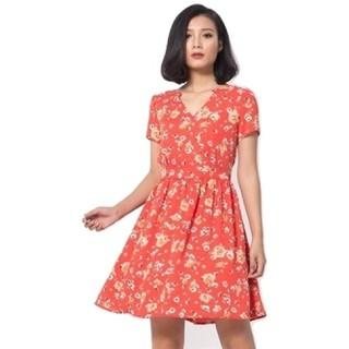 Đầm Xòe Thiết Kế Belle - Nền Cam - 131967 thumbnail