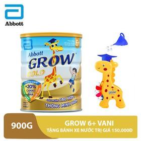 Bộ 1 lon Grow 6+ hương vani 900g tặng bánh xe nước trị giá 150,000đ - GRO029776