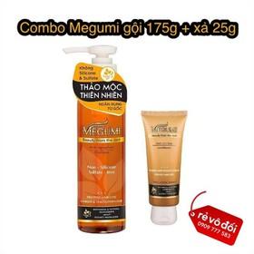 [ Hỗ trợ phí ship ] Dầu gội ngăn rụng tóc Megumi 175g + tặng dầu xả 25g - Megumi gội 175g + xả 25g