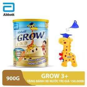 [Hà Nội] Bộ 1 lon Grow 3+ hương vani 900g tặngbánh xe nước trị giá 150,000đ - GRO029775