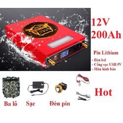 Pin lithium 12V - 200Ah - Pin lithium 12V - 200Ah