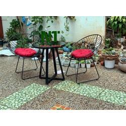 bàn ghế sắt cafe ban công