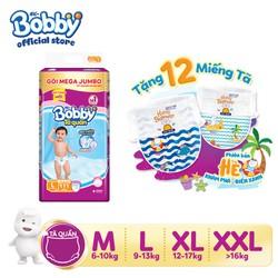 [Phiên bản hè giới hạn] Tặng 12 miếng tã - Tã quần Bobby gói Mega Jumbo đủ size [chỉ bán online]-M120-L111-XL102-XXL93