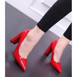giày cao gót đế vuông cao 8f