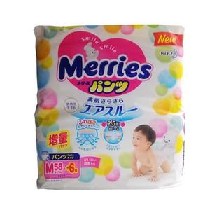 Bỉm Merries tã dán, tã quần cho trẻ từ sơ sinh đến 28kg hàng nội địa Nhật Bản - BIM_MERRIES thumbnail