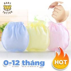 BABY TATTOO Vớ tay cho bé sơ sinh Bao tay chất liệu Cotton, thích hợp cho trẻ từ 0-12 tháng