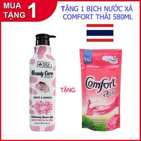 Sữa tắm trắng da Beauty Care Thái Lan chai khổng lồ 1200ml tặng 1 Comfort Thái 580ml - Beauty Care_CF