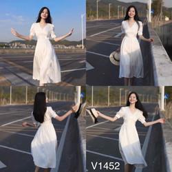 Đầm trắng đi biển