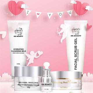 Kn Beauty - Combo face chuyên về nám gồm 4 sản phẩm kem face, serrum, sữa rửa mặt, tẩy tế bào chết tặng kèm 1 body bơ hủ lớn - 820 thumbnail