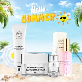 Kn Beauty - Combo face chuyên về nám gồm kem face, serrum, sữa rửa mặt Mẫu mới tặng nước hoa cao cấp - combofacesrmnh thumbnail