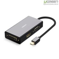 Cáp chuyển Mini Displayport to VGA + HDMI + DVI hỗ trợ 4k 2k Ugreen 20418-Hàng Chính Hãng
