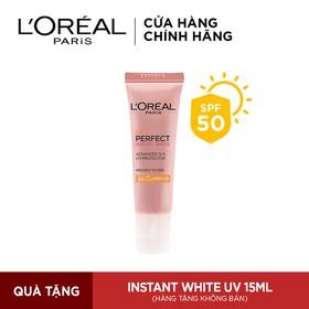 Kem chống nắng 15ml Bảo vệ & Dưỡng sáng da L'Oreal Paris UV Perfect SPF50+ PA++++ - 8992304075490
