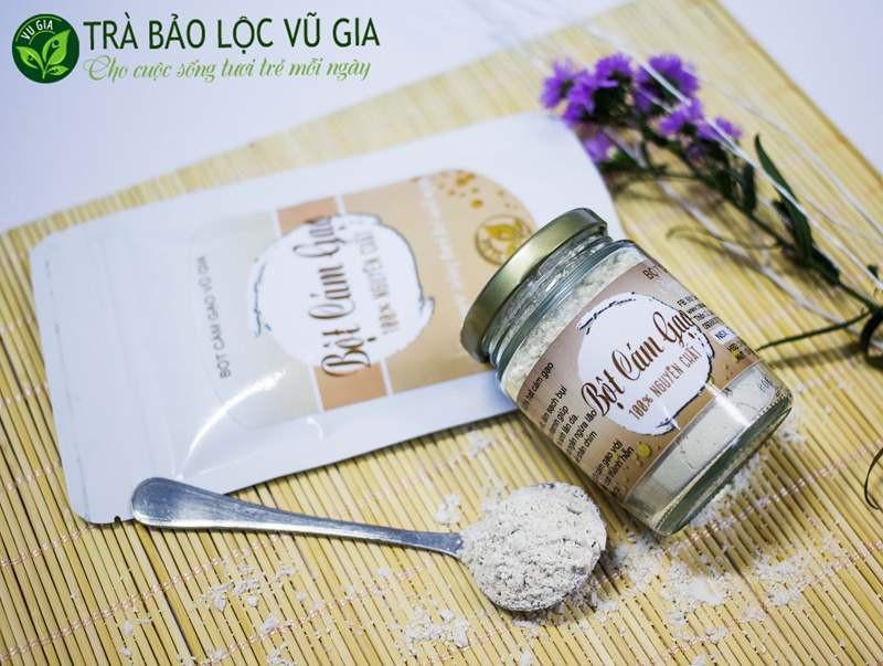 Bột Cám Gạo + Tinh Bột Nghệ - Nguyên Chất VG Farm [100gr-hũ]_Đã được kiểm nghiệm y tế - BCG100+TBN 2