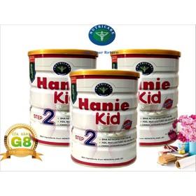 Bộ 3 lon sữa Hanie Kid step 2 900g - Dành cho trẻ biếng ăn và Suy dinh dưỡng từ 6 - 12 tháng tuổi của NutriCare - BHN32