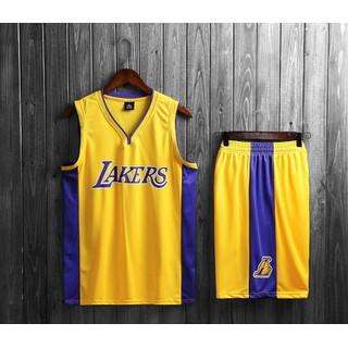 Bộ Quần Áo Bóng Rổ Los Angeles Lakers Vàng Tím Mẫu 2020 - Quần Áo Bóng Rổ Laker thumbnail