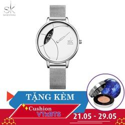 Đồng hồ nữ Chính Hãng Shengke Korea K0091L-01 + Tặng kèm Cushion VT X BTS
