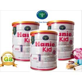 Bộ 3 lon sữa Hanie Kid step 1 900g - Dành cho trẻ biếng ăn và Suy dinh dưỡng từ 0 - 6 tháng tuổi của NutriCare - BHN13