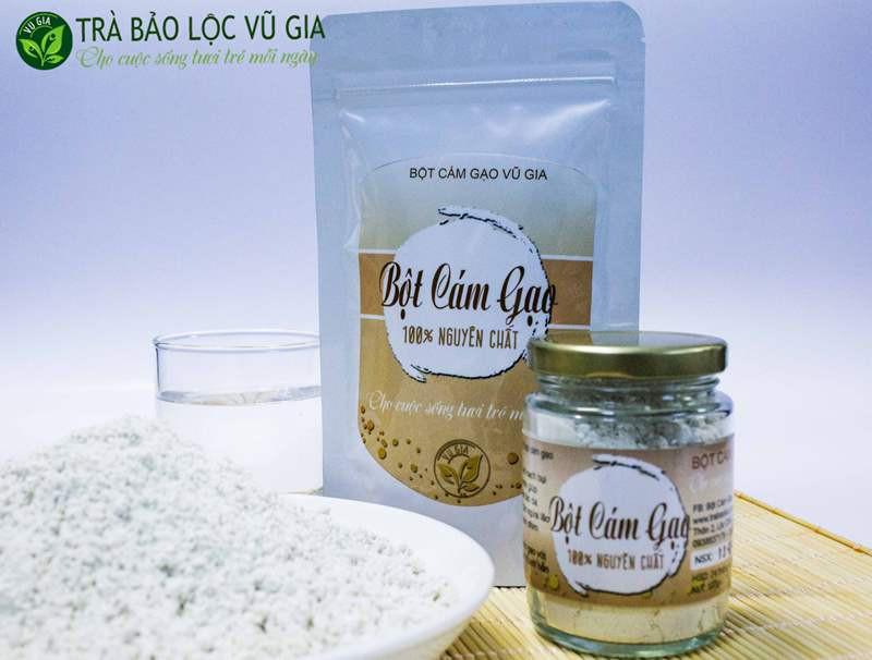 Bột Cám Gạo + Tinh Bột Nghệ - Nguyên Chất VG Farm [100gr-hũ]_Đã được kiểm nghiệm y tế - BCG100+TBN 3
