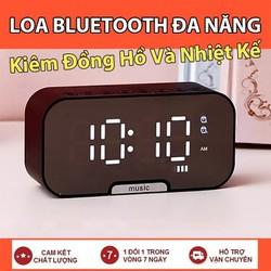 Loa bluetooth 3 trong 1 loa không dây kiêm đồng hồ báo thức, đo nhiệt độ, loa đồng hồ