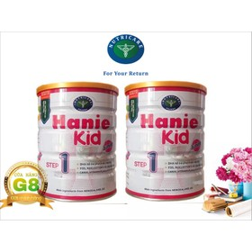Bộ 2 lon sữa Hanie Kid step 1 900g - Dành cho trẻ biếng ăn và Suy dinh dưỡng từ 0 - 6 tháng tuổi của NutriCare - BHN12