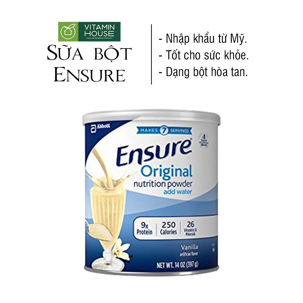 Sữa ensure xách tay sua bot ensure xuất xứ Mỹ date 09.2022 397gr