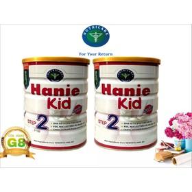 Bộ 2 lon sữa Hanie Kid step 2 900g - Dành cho trẻ biếng ăn và Suy dinh dưỡng từ 6 - 12 tháng tuổi của NutriCare - BHN22
