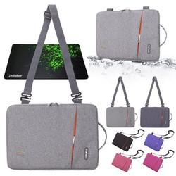 Túi chống sốc FoPaTi cao cấp có dây đeo cho MacBook, laptop Oz41 - tặng bàn di chuột