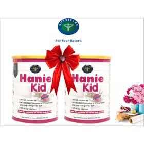 Bộ 2 lon sữa Hanie Kid 900g - Dành cho trẻ biếng ăn và Suy dinh dưỡng từ 1 - 10 tuổi của NutriCare - BHN2