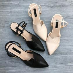 giày công sở bít mũi big size nữ size 40 41 42 43 gót vuông 5 cm