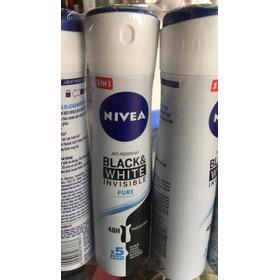 Xịt Ngăn Khử Mùi Nivea Nữ Black White Ngăn Vệt Ố Vàng Ngọt Ngào Quyến Rũ Nivea 150ml - 1848