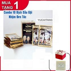 [Tặng 2 Xà Phòng Cám Gạo] COMBO 10 Bịch Dầu Gội Nhuộm Tóc Đen - Kèm Bao Tay