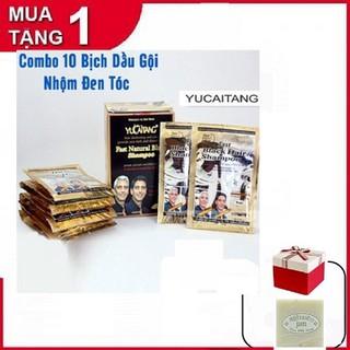 [Tặng 2 Xà Phòng Cám Gạo] COMBO 10 Bịch Dầu Gội Nhuộm Tóc Đen - Kèm Bao Tay - CB4277 thumbnail