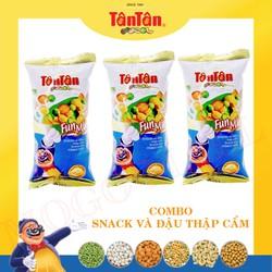 Snack và Đậu Thập Cẩm Tân Tân 30g - Combo 5 gói