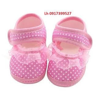Giày tập đi cho bé gái đế mềm chống trượt từ 0-12 tháng L12td05