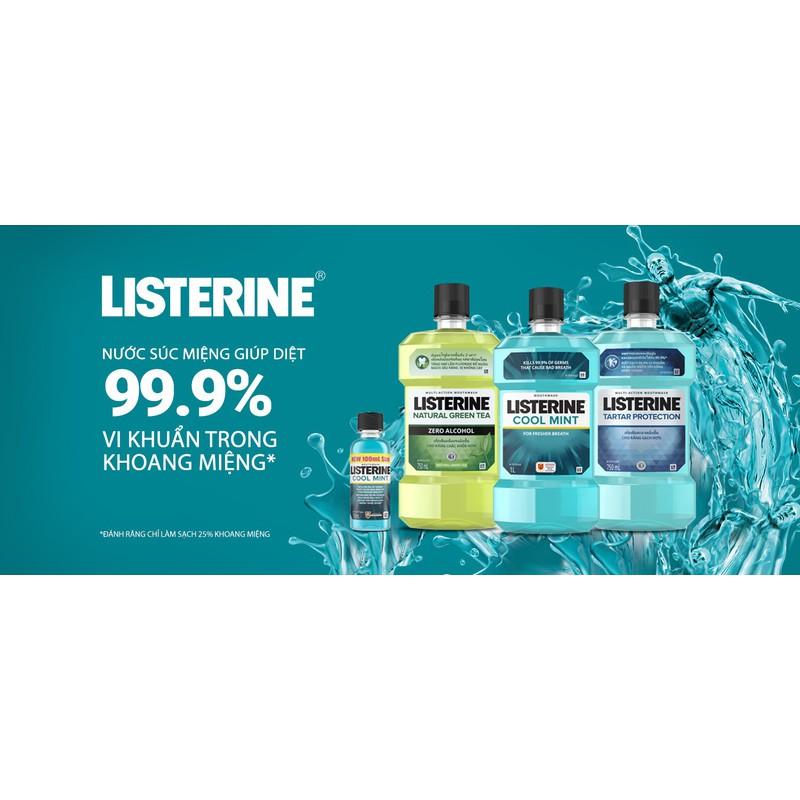 [NHẬP MÃ SD3R9B CÒN 65K] 2 Chai Nước Súc Miệng Listerine 250ml x2 Chai – Listerine 250ml x2chai
