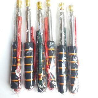 Combo 6 cái cán cờ 2m đầu mạ đồng, tay xốp,cán inox cho hướng dẫn viên dẫn đoàn - cb6cc20d thumbnail