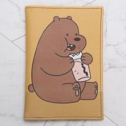 Ví đựng passport gấu mã 1