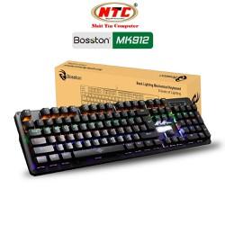 [GIAO 3H_HCM] Bàn phím cơ chuyên game Blue Switch Bosston MK912 - thay đổi 9 chế độ đèn Led [Đen] - Hãng phân phối chính thức